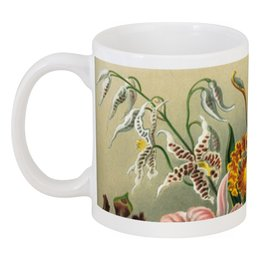 """Кружка """"Любимой девушке (Орхидеи)"""" - орхидея, эрнст геккель, цветы, 14фев, 8мар"""