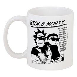 "Кружка ""Rick and Morty"" - прикольные, sonic youth, группы, rick and morty, рик и морти"