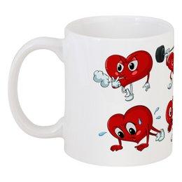"""Кружка """"Сердца"""" - сердце, любовь, спорт, день святого валентина"""