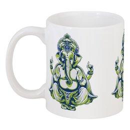 """Кружка """"Shiva"""" - корона, слон, человек, буддизм, шива"""