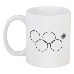 "Кружка ""Олимпийские кольца в Сочи 2014"" - олимпиада, нераскрывшееся олимпийское кольцо, олипийские кольца, сочи-2014, sochi-2014"