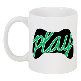 """Кружка """"Играй"""" - джойстик, игрок, геймер"""