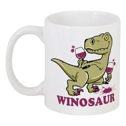 """Кружка """"Винозавр"""" - динозавр, вино, бокал, winosaur, винозавр"""