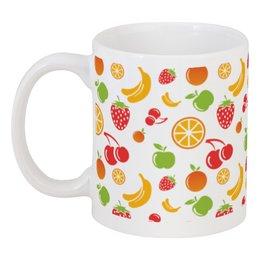 """Кружка """"Фруктовая"""" - апельсин, клубника, вишня, бананы, яблоко"""