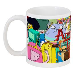 "Кружка ""Adventure Time"" - мультфильм, коллаж, для детей, adventure time"