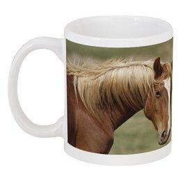 """Кружка """"ЛОШАДИ"""" - любовь, семья, лошади, пара"""