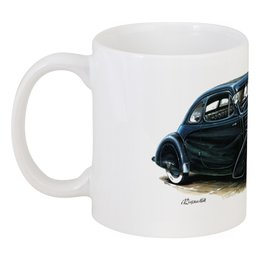 "Кружка ""Ретроавтомобили 5"" - ретро, рисунок, автомобили"