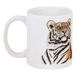 """Кружка """"Взгляд тигра"""" - хищник, животные, взгляд, тигр, зверь"""