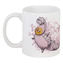 """Кружка """"Striped Miracle"""" - кот, прикольно, арт, дракон, рисунок, cat, в подарок, оригинально, кружка, dragon"""
