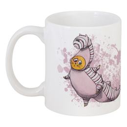"Кружка ""Striped Miracle"" - кот, прикольно, арт, дракон, рисунок, cat, в подарок, оригинально, dragon, креативно"