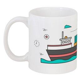 "Кружка ""Корабль"" - корабль, лодка, море"