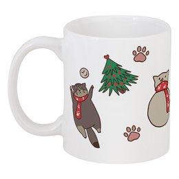 "Кружка ""Winter Kitty"" - праздник, кот, cat, новыйгод, newyear"