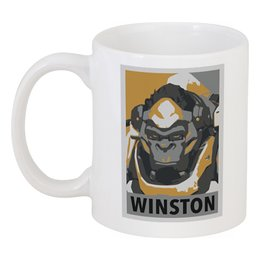 "Кружка ""Уинстон"" - winston, overwatch, уинстон, овервотч"