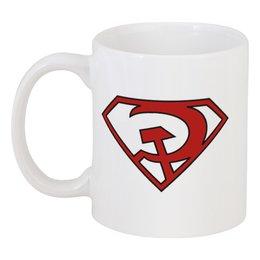 """Кружка """"Серп и молот"""" - red, супермен, красный, серп и молот"""