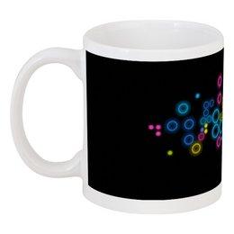 """Кружка """"Психоделика 2"""" - пузырьки, цвет, абстракция, чёрный фон"""