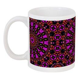 """Кружка """"purple"""" - арт, узор, фиолетовый, абстракция, фигуры"""