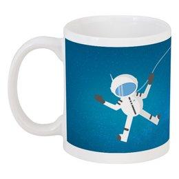 """Кружка """"Космонавт в открытом космосе."""" - космос, человек, космонавт, полёт, скафандр"""