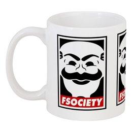 "Кружка ""Мистер Робот. Fsociety"" - сериалы, хакер, мистер робот, fsociety, mr robot"
