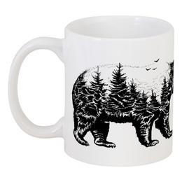 """Кружка """"Русский медведь"""" - медведь, утро, россия, кофе, сила"""