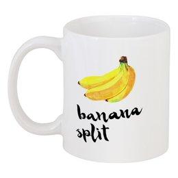 "Кружка ""Banana split"" - иллюстрация, banana, банан"