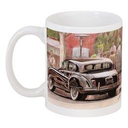 """Кружка """"Beverly Hills"""" - арт, автомобили, cadillac, jaguar, классические автомобили"""