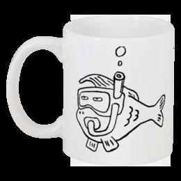 """Кружка """"Рыба моя (кружка)"""" - прикольно, арт, животные, море, рисунок, прикольные, рыба, животное, рыбка, океан"""