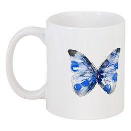 """Кружка """"Бабочка"""" - бабочка, дизайн, иллюстрация, животное, рисунок"""