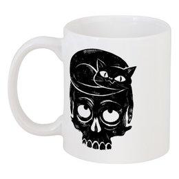 """Кружка """"Skull Art"""" - skull, череп, кот, арт, cat"""