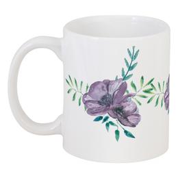 """Кружка """"Лиловый чай"""" - цветы, природа, ботаника, бохостиль"""