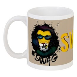 "Кружка ""Swag Art"" - животные, лев, lion, swag, свэг"