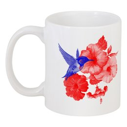 """Кружка """"Кружка Колибри и Лилии"""" - подарок, стильно, напитки, колибри, лилии"""