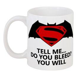 """Кружка """"Бэтмен и Супермен"""" - бэтмен"""