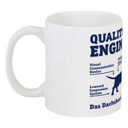 "Кружка ""Quality German Engineering"" - такса, dachshund, схема"
