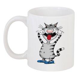 """Кружка """"Улыбнись!"""" - улыбнись, cat, коты, микола, дядя колы воронцов"""