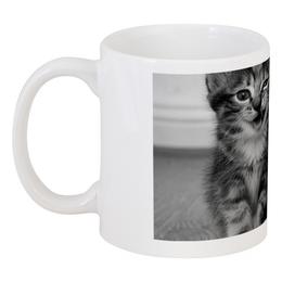 """Кружка """"Кто сказал мяу?"""" - кот, котенок, улыбка, смешной, котёнок"""