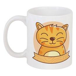 """Кружка """"Спящий  котёнок"""" - кот, животное, котёнок"""