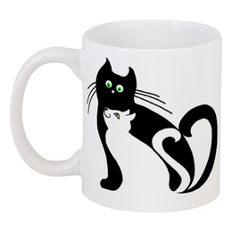 """Кружка """"котэ-чашка"""" - в подарок, смешные коты, чёрный кот, мартовские коты"""