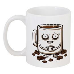 "Кружка ""Кофеман"" - прикол, утро, сон, кофе, coffee"