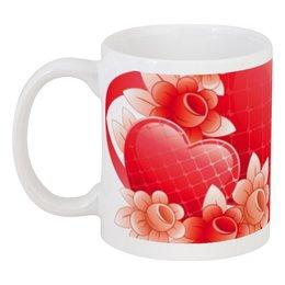 """Кружка """"Любимой женщине"""" - цветы, сердца, 14 февраля, 8 марта, подарок"""