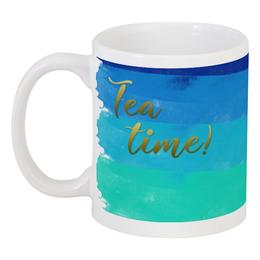 """Кружка """"Время чая"""" - синее, напиток, чай, время, зеленое"""