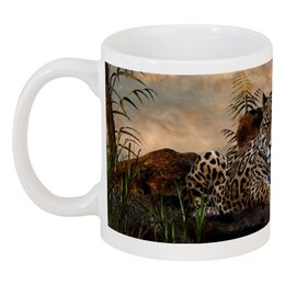 """Кружка """"леопард"""" - животные, красота, природа, леопард"""