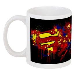 """Кружка """"Superman"""" - comics, супермен, superman, dc, человек из стали"""