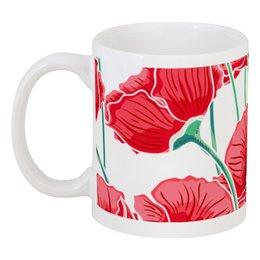 """Кружка """"Красные маки"""" - красиво, цветы, ярко, природа, маки"""