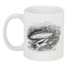 "Кружка ""Кумжа"" - рыбалка, форель, нахлыст, fly-fishing, кумжа"