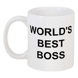"""Кружка """"World's Best Boss"""" - sitcom, the office, michael scott, steve carell, dwight schrute"""