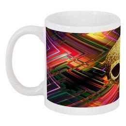 """Кружка """"Черепушка"""" - череп, полосы, краски, абстракция, линии"""