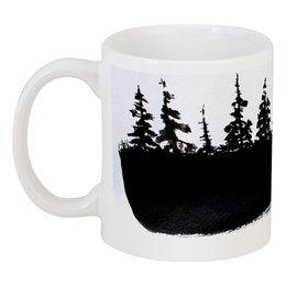 "Кружка ""DARK FOREST"" - лес, darkforest, тёмныйлес, мрачныйлес"