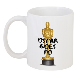 "Кружка ""Oscar goes to by KKARAVAEV"" - oscar, goes, tallstoy, kkaravaev, оскар"