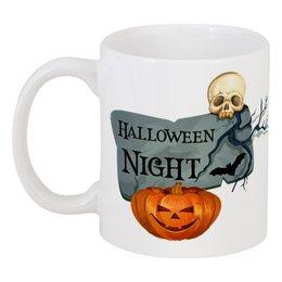 """Кружка """"Хэллоуин"""" - череп, хэллоуин, тыква"""
