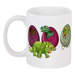 """Кружка """"Динозавры"""" - динозавры, динозавр, животное, яйца динозавра"""